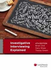 INVESTIGATIVE INTERVIEWING EXPLAINED e4