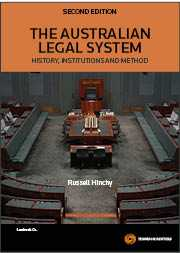 THE AUSTRALIAN LEGAL SYSTEM: HISTORY INSTITUTIONS AND METHOD e2