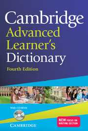 CAMBRIDGE ADVANCED LEARNERS DICTIONARY + CD-ROM e4